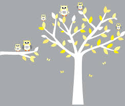 Vinyl Tree Wall Decals For Nursery by Amazon Com Owl Wall Decals Nursery Room Wall Decals Yellow And