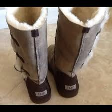 womens ugg bomber boots 14 ugg boots ugg bailey button triplet bomber boots sz