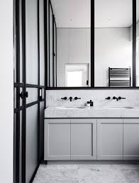 Modern Black And White Bathroom by Modern Bathroom Black And White Bathroom Marble Countertop Gray