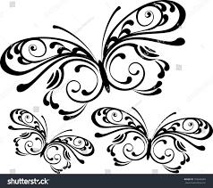 set ornamental butterflies stock vector 103649699