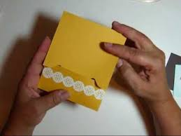 How To Make Punch Cards - this video shows how to make a match book style gift card holder