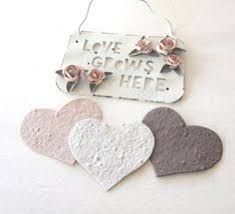 seed paper favors plantable seed paper create wedding favors diecut hearts and