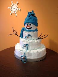 Diaper Cake Directions Snowman Diaper Cake