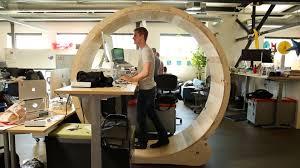 Diy Work Desk Diy Standing Desk Inside Human Hamster Wheel To Keep You Fit At