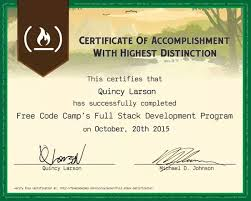 does a certificate from freecodecamp have any weight does it have
