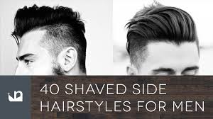 long choppy haircuts with side shaved 40 shaved side hairstyles for men youtube
