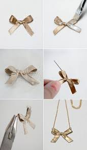 tie ribbon oh the lovely things diy ribbon bow necklace