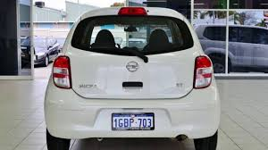 2014 nissan micra k13 my13 st pearl white 4 speed automatic