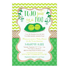 two peas in a pod baby shower two peas in a pod invitations announcements zazzle