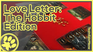 love letter hobbit edition game play 3 player youtube