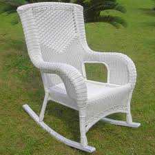 Patio Rocking Chair International Caravan San Tropez Wicker Resin Aluminum High Back
