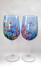228 best painted wine glass images on glass