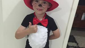 basic homemade cat in the hat costume youtube