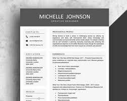 Download Professional Resume Template Clean Resume Etsy