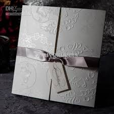 tri fold invitations embossed tri fold invitations wedding engagement invitation cards