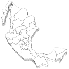 Mexico Map by 3d Model Mexico Map Cgtrader