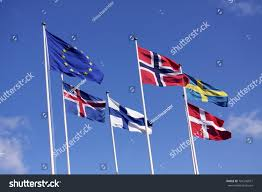 Flags And Flagpoles Five Nordic Flags On Flagpoles Eu Stock Photo 701546077 Shutterstock