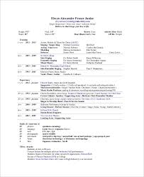 Physics Resume Sample Artist Resume 8 Examples In Word Pdf