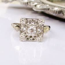 antique engagement ring european cut from ladyrosevintagejewel on
