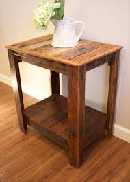 Wood Side Table Pallet Wood Side Tables Pallet Furniture Diy Http Www