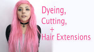 vp extensions pink hair tutorial color cut extensions vp fashion