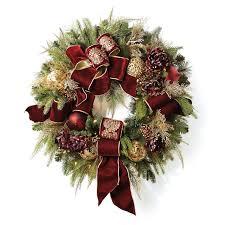 pre lit wreath versailles pre lit wreath frontgate