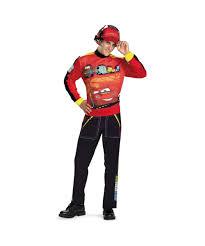 Mens Disney Halloween Costumes Disney Cars Lightning Mcqueen Costume Men Disney Costumes