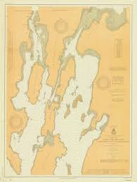 Map Of Michigan Lakes Nautical Maps Of Lake Champlain