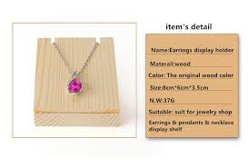 color necklace display images Bincoco wood earrings display holder for store wood jewelry jpg
