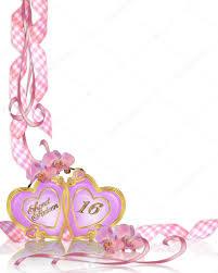 sweet 16 birthday party invitation borde u2014 stock photo irisangel
