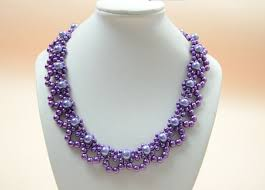 beaded necklace design images Pandahall jewelry making tutorial video how to bead a purple jpg