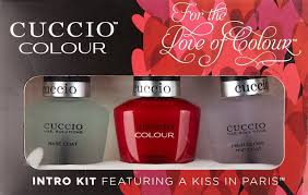 amazon com cuccio colour 3 piece nail polish kit a kiss in