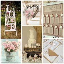ideas for table decorations for weddings shabby chic wedding