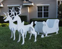 outdoor christmas decorations sleigh reindeer idea christmas