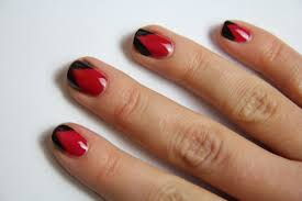 27 red and black nail design black red and silver nail designs