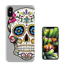 c0858 sugar skull flower cover for iphone 4 5 se 6 7 8