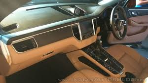 macan porsche interior porsche macan r4 interior dashboard side view indian autos blog
