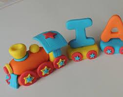 fondant edible safari train cake topper animals on board