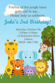 monkey invitations baby shower jungle animals monkey safari theme birthday or baby shower