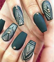 50 coffin nail art designs coffin nails autumn nails and manicure