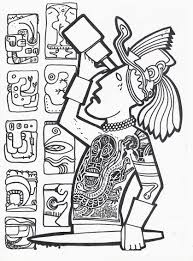 mayan art influence words with no names