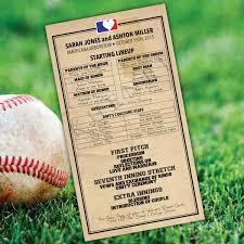 baseball lineup wedding program printable digital file