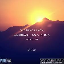 Blind Bible John 9 25 I Was Blind Now I See Bible Verse Christian