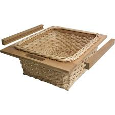 Kitchen Cabinet Pull Out Baskets Wicker Baskets And Runners Set For 500 600 Mm Cabinets Pull Out