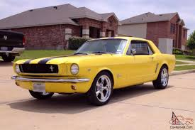 1965 yellow mustang mustang coupe 347 coupe yellow black stripes