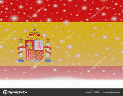 Spain Flags Spain Flag On Christmas Background U2014 Stock Vector Noche0 173324016