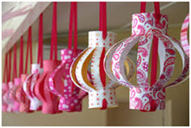 Home Decor Ideas For Diwali Hanging Paper Chandelliers For Diwali Decoration