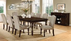 furniture of america anson transitional 9 piece dining set