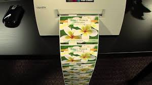 print short run labels with lx400 color label printer youtube