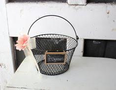 Basket For Wedding Programs Wedding Programs Basket Wedding Decorations By